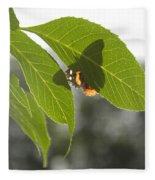 Butterfly Shadow Fleece Blanket