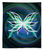 Butterfly Swirl Fleece Blanket
