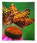 Butterfly Twins Fleece Blanket