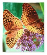 Butterfly Twins Fleece Blanket