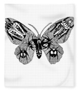 Butterfly With Design Fleece Blanket