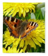 Butterfly Yellow Fleece Blanket