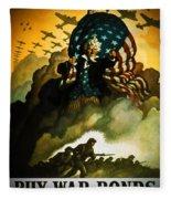 Buy War Bonds Fleece Blanket