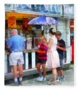 Buying Ice Cream At The Fair Fleece Blanket