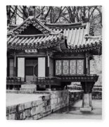 Buyongjeong Pavilion In Secret Garden Fleece Blanket