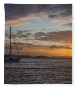Bvi Sunset Fleece Blanket