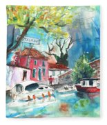 By A French Canal 01 Fleece Blanket