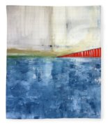 By The Bay- Abstract Art Fleece Blanket