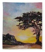 By The Golden Sea Fleece Blanket