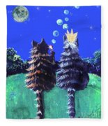By The Light Of The Silvery Moon Fleece Blanket