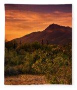 By The Light Of The Sunset Fleece Blanket
