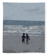 By The Ocean Fleece Blanket