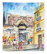 By The Old Cathedral In Cartagena 01 Fleece Blanket