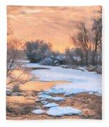 By The Old Mill Fleece Blanket