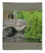 By The Old Mill Stream Fleece Blanket