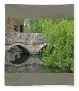 By The Old Mill Stream Fleece Blanket