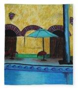 By The Poolside Fleece Blanket