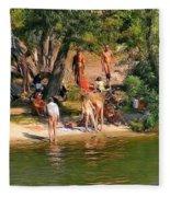By The River Fleece Blanket