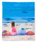 By The Seaside Fleece Blanket