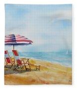 By The Waterfront Fleece Blanket