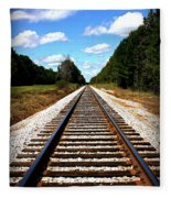 Never Ending Tracks Fleece Blanket