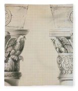 Byzantine Capitals From Columns In The Nave Of The Church Of St Demetrius In Thessalonica Fleece Blanket
