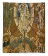 Byzantine Icon Depicting The Transfiguration Fleece Blanket