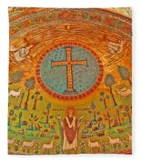 Byzantine Mosaic Fleece Blanket