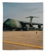 C-5 On Taxi Fleece Blanket