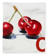 C Art Alphabet For Kids Room Fleece Blanket