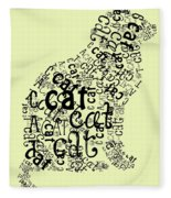 C Is For Cat Fleece Blanket