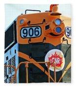 C N R Train 906 Fleece Blanket