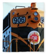 C N R Train 906 Rustic Fleece Blanket