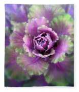 Cabbage Flower Fleece Blanket