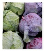 Cabbage Friends Fleece Blanket