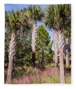 Cabbage Palm Fleece Blanket