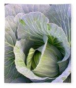 Cabbage Still Life Fleece Blanket