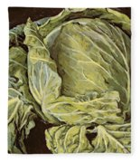 Cabbage Still Life Fleece Blanket
