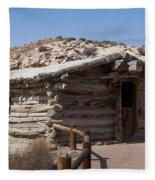 Cabin At Wolf Ranch Fleece Blanket