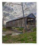 Cabin Creek Covered Bridge Fleece Blanket