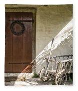 Cabin Door Fleece Blanket