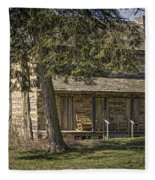 Cabin In The Wood Fleece Blanket