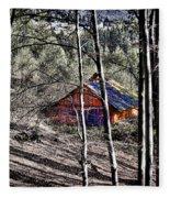 Cabin In The Woods Fleece Blanket