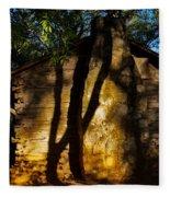 Cabin Shadows Fleece Blanket