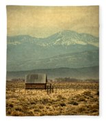 Cabin With Mountain Views Fleece Blanket