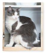 Cabinet Cat Fleece Blanket