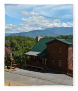 Cabins In The Smokies Fleece Blanket