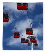 Red Line Cable Car Gondolas Bolivia Fleece Blanket