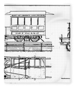 Cable Car Patent, 1873 Fleece Blanket