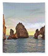 Cabo San Lucas Arch Sunset Fleece Blanket